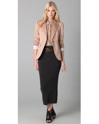 Club Monaco | Brown Clara Blazer | Lyst