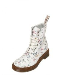 Dr. Martens | Multicolor Floral Print Leather Lace Up Boots | Lyst