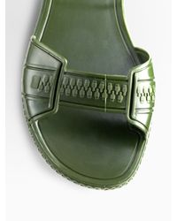 Givenchy - Green Flat Jelly Sandals - Lyst