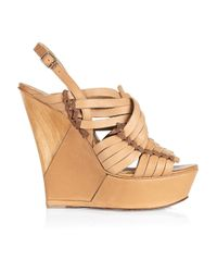 Lanvin Natural Wedge Sandal