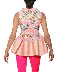 Manish Arora - Multicolor Embroidered Crisscross Cotton Top - Lyst
