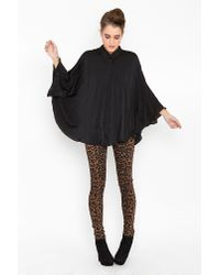 Nasty Gal | Black Bazaar Pleated Cape | Lyst