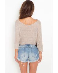 Nasty Gal - Blue Original Bonita Cutoff Shorts - Lyst