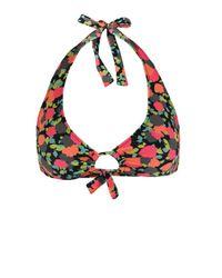 Paul Smith | Multicolor 124a-u156 Floral Keyhole Halter Bikini Top | Lyst