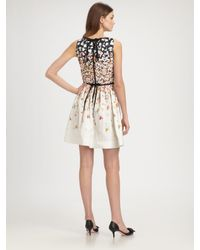 RED Valentino | Multicolor Floral A-line Dress | Lyst