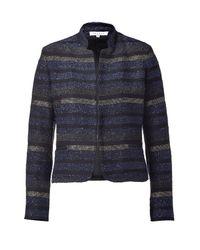 Sandro - Blue Multicolor Lurex Jacket - Lyst