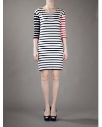 Sonia by Sonia Rykiel | Beige Striped Cotton Dress | Lyst