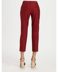 Theory | Red Yanette Capri Pant | Lyst