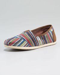 TOMS | Brown Spencer Striped Slip-on | Lyst
