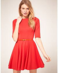 ASOS Collection - Pink Asos Petite Exclusive Cross Back Skater Dress - Lyst