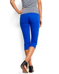 Mango   Blue Low Waist Skinny Jeans   Lyst