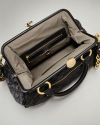Marc Jacobs | Quilted Stam Satchel, Black | Lyst