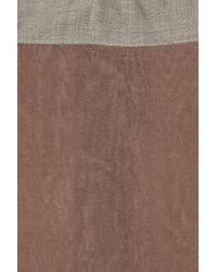 Marni Brown Chiffon Skirt