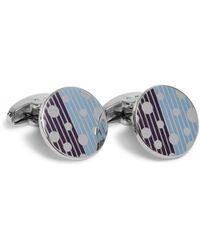 Paul Smith Blue Dot and Stripe T-bar Cufflinks for men