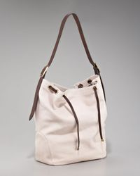 Brunello Cucinelli - Natural Washed Leather Drawstring Hobo - Lyst
