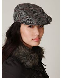 Free People - Black Pioneer Cable Driving Cap - Lyst
