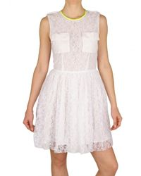 MSGM | White Lace Dress | Lyst