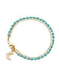 Astley Clarke | Metallic Moon Turquoise Friendship Bracelet | Lyst