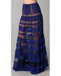 BCBGMAXAZRIA | Blue The Letesia Skirt | Lyst