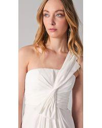 BCBGMAXAZRIA | White Palais One Shoulder Dress | Lyst