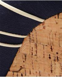 Christian Louboutin   Blue 'Melides 'Canvas and Cork Platform Wedges   Lyst