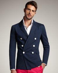 DSquared²   Blue Firenze Doublebreasted Blazer for Men   Lyst
