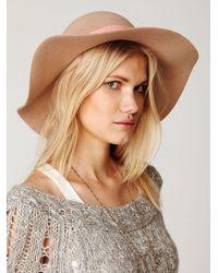 Free People Pink Jane Wide Brim Hat
