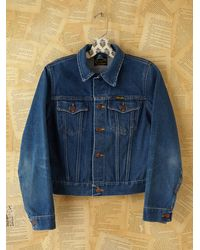 Free People | Blue Vintage Wrangler Jean Jacket | Lyst