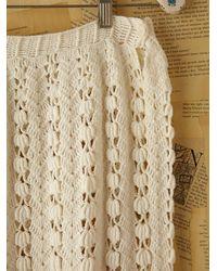 Free People - White Vintage Granny Knit Crochet - Lyst