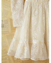 Free People | White Vintage Gunne Sax Lace Dress | Lyst
