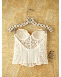Free People | Natural Vintage Lace Bustier | Lyst
