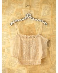 Free People | Natural Vintage Lace Tank Top | Lyst
