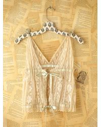 Free People | Natural Vintage Lace Tie Top | Lyst