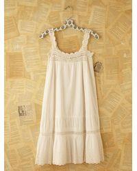 Free People - White Vintage Victorian Slip Dress - Lyst