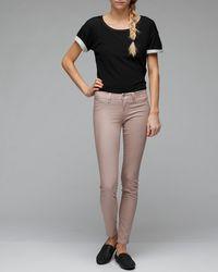 J Brand - Pink Rose Gold Legging - Lyst