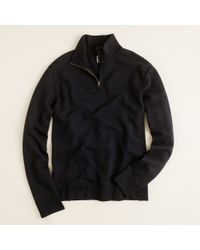 J.Crew | Black Lightweight Vintage Fleece Half Zip Pullover for Men | Lyst