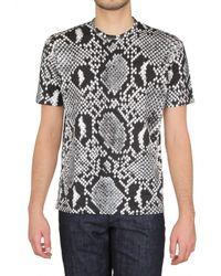 Jil Sander | Black Python Printed Jersey T-shirt for Men | Lyst