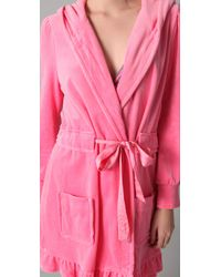 Juicy Couture | Pink Velour Robe | Lyst