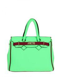 Leghilà | Green B-bag Small Neoprene Top Handle | Lyst