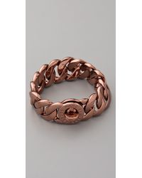 Marc By Marc Jacobs | Brown Turnlock Katie Bracelet | Lyst