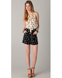 Marc By Marc Jacobs - Multicolor Cream Polka Dot Silk Top - Lyst