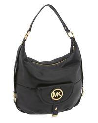 MICHAEL Michael Kors   Black Fulton Logo - Large Shoulder Bag   Lyst