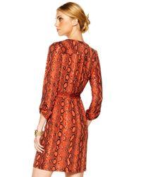 Michael Kors - Multicolor Exclusive Chain Tie Dress - Lyst