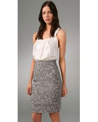 Rachel Roy - White Mixed Media Dress - Lyst