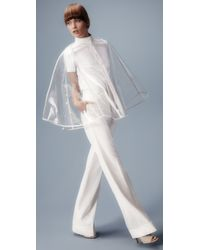 Raoul - White Clear Capelet - Lyst