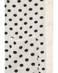 Sonia by Sonia Rykiel - Black Polka-dot Knitted Cotton Cardigan - Lyst