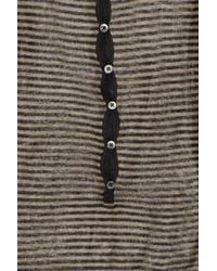 Sonia by Sonia Rykiel Brown Striped Linen Top