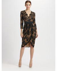 Tadashi Shoji - Black Lace Tulip Skirt Dress - Lyst