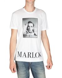 Dolce & Gabbana | White Marlon Brando Print Jersey T-shirt for Men | Lyst