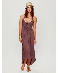 Free People | Brown Half Moon Dress | Lyst